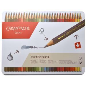カランダッシュ CARAND'ACHE 色鉛筆 ファンカラー 水溶性色鉛筆 1288-330 ファンカラー30色セット(缶入) 10C1288-330  (5700)|penworld