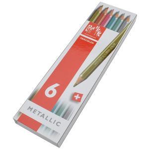 カランダッシュ CARAND'ACHE 色鉛筆 ファンカラー 水溶性色鉛筆 1284-406 ファンカラーメタリック6色セット1284-406  (1300)|penworld