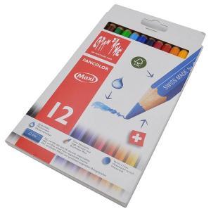 カランダッシュ CARAND'ACHE 色鉛筆 ファンカラー 水溶性色鉛筆 498-712 ファンカラーマキシ12色セット(太軸) 10C498-712  (4500)|penworld