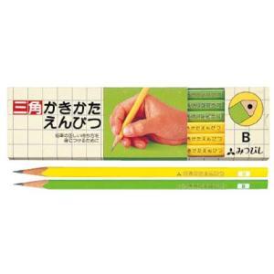 三菱鉛筆 鉛筆 三角軸 K4563 3角 黄緑 1ダース 19268