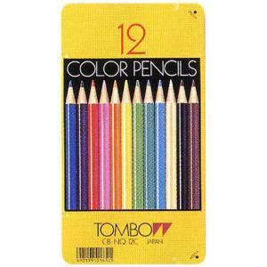 トンボ鉛筆 色鉛筆 CB-NQ12C 12色(缶入) 1954 (800)|penworld