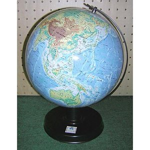 ワタナベ(渡辺教具製作所) 地球儀 卓上地球儀 WBC W-2308 地勢 黒台 20200 (7800)|penworld