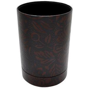リンデン ペンスタンド ウルシック ペンスタンド 花柄(茶) HPS-1 20950 (1200)|penworld