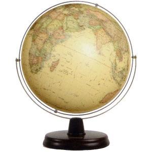 ワタナベ(渡辺教具製作所) 地球儀 リブラ・アンティーク調 No.W-3057 木台 21029 (18000)|penworld