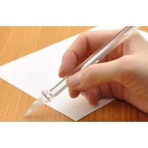 ガラスペン ガラス工房 まつぼっくり ガラスペン トライアングル tri-cl クリア 23892 |penworld|07
