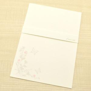 クオレッティ コットン クリーム A5便箋 XG1543 蝶と花 24392 (380)|penworld
