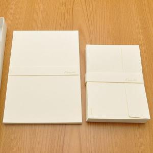クオレッティ コットン レターセット クリーム XG1741 洋2封筒+便箋セット 無地 256A-XG1741 (3250)|penworld
