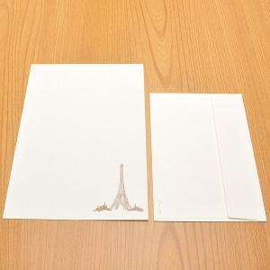クオレッティ コットン レターセット クリーム XG2145 封筒+便箋セット エッフェル塔 256A-XG2145 (4200)|penworld