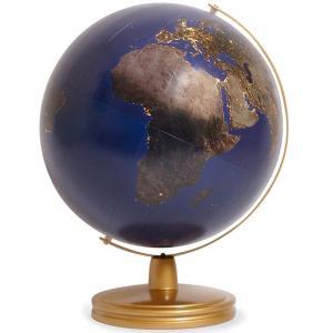 ワタナベ(渡辺教具製作所) 地球儀 夜の地球儀 No.3058 金色台 25210 (18000)|penworld