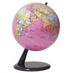 ワタナベ(渡辺教具製作所) 地球儀 CT コンティネンツ No.2003 英文ピンク プラスチック台 25223 (5800)|penworld