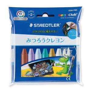 ステッドラー STAEDTLER クレヨン ノリスクラブ みつろうクレヨン 2240PB6 メタリックカラー 6色セット 27534 (800)|penworld