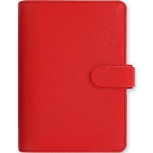 システム手帳 ブランド / ファイロファックス ポケットサイズ サフィアーノ システム手帳 022471 レッド 37A022471 (6000)|penworld