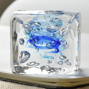 Pent〈ペント〉 ペーパーウェイト by色工房 渓流 レクタングル 藍(あい) 28415 (5700)|penworld|02