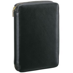 ダ・ヴィンチ システム手帳 スタンダード バイブルサイズ リング24mm ラウンドファスナータイプ ブラック DB3004B 28560(9000) penworld