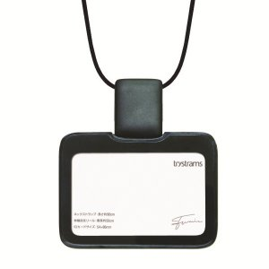 トライストラムス IDカードホルダーSMOOTHSTYLE THFMG01D ストラップ横 ブラック 29080 (1524)|penworld