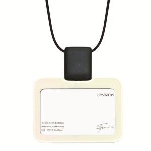 トライストラムス IDカードホルダーSMOOTHSTYLE THFMG01W ストラップ横 ホワイト 29084 (1524)|penworld
