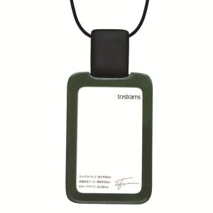 トライストラムス IDカードホルダーSMOOTHSTYLE THFMG02G ストラップ縦 カーキ 29086 (1524)|penworld