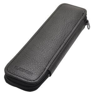 ペンケース ブランド / プラチナ万年筆 ペンケース HPLS-3000-1 ポケット付 2本差し ブラック 30AHPLS-3000-1 (3000)|penworld