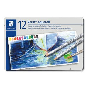 色鉛筆 ブランド / ステッドラー 水彩色鉛筆 カラト アクェレル 125 125M12 12色(缶入) 72C125M12 (2400) penworld