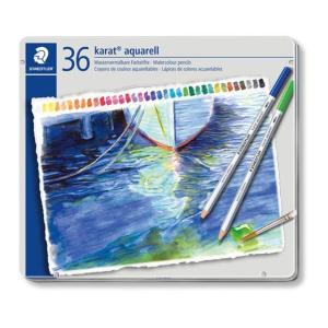 色鉛筆 ブランド / ステッドラー 水彩色鉛筆 カラト アクェレル 125 125M36 36色(缶入) 72C125M36 (7200) penworld