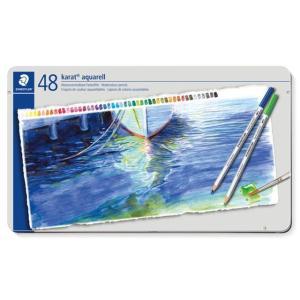 色鉛筆 ブランド / ステッドラー 水彩色鉛筆 カラト アクェレル 125 125M48 48色(缶入) 72C125M48 (9600) penworld