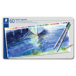 色鉛筆 ブランド / ステッドラー 水彩色鉛筆 カラト アクェレル 125 125M60 60色(缶入) 72C125M60 (12000) penworld