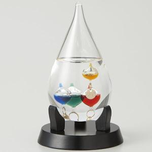 デスクアクセサリー Fun Science(ファン・サイエンス) 333-206 ガラスフロート温度計しずく スタンド付32154 |penworld