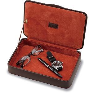 デスクアクセサリー LUSSO(ルッソ) 240-861 レザーメンズボックス / 高級 ブランド /  180A240-861 (6000)|penworld