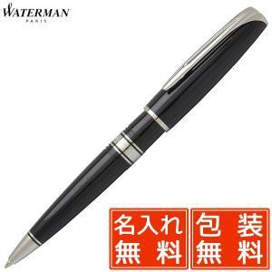 ボールペン ウォーターマン 名入れ 無料 WATERMAN チャールストン エボニーブラックCT 233322|penworld