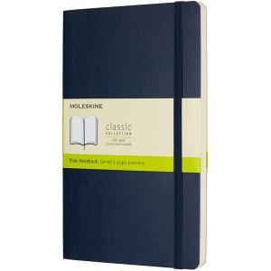 モレスキン MOLESKINE ラージサイズ ソフトカバー カラーノートブック プレーン<無地> QP618B20 5180176 サファイアブルー (2900)|penworld