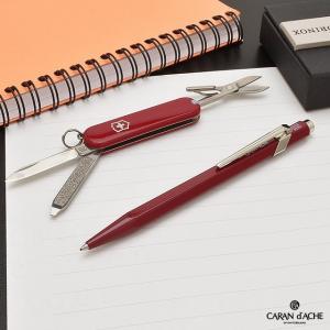 ボールペン カランダッシュ CARAND'ACHE 限定品 スイスギフト クラシック 849+ビクトリノックス レッドナイフ NF8496-080|penworld