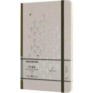 モレスキン MOLESKINE ノートブック 限定版 タイム LCTM31KJ 5180301 ラージサイズ グリーン 横罫 38636 (2900)|penworld