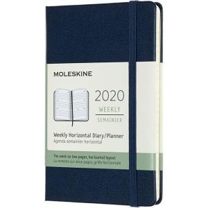 モレスキン手帳 ラージサイズ 2020年版 ウィークリー ホリゾンタル(横型) ハードカバー サファイアブルー DHB2012WH3Y20 5182074|penworld