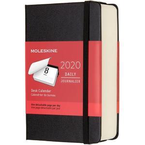 モレスキン手帳 ポケットサイズ 2020年版 デイリーデスクカレンダー ハードカバー ブラック DHB12CR2Y20 5182026|penworld