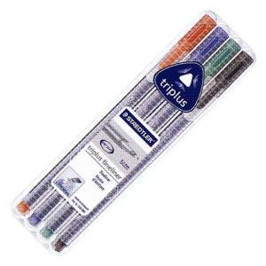 ステッドラー STAEDTLER ファインライナー トリプラス 334SB4 4色セット 654 (470)|penworld