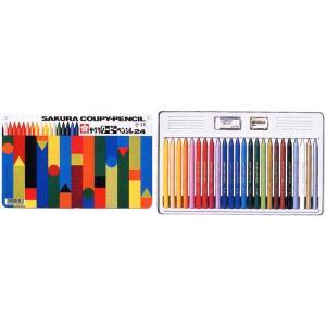 色鉛筆 ブランド / サクラクレパス 色鉛筆 クーピーペンシル FY24 24色 缶入り 80CFY24 (1800)|penworld