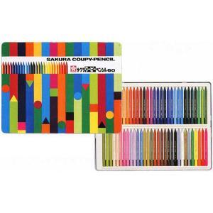 色鉛筆 ブランド / サクラクレパス 色鉛筆 クーピーペンシル FY60 60色 缶入り 80CFY60 (5000)|penworld