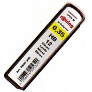 シャーペン 替え芯 / ロットリング ペンシル芯 ハイポリマー芯 0.3(0.35)mm 12本入り 23SS0312410  (200)|penworld