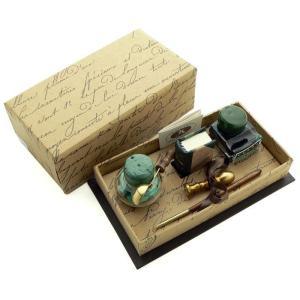 ルビナート ウッディホルダーペン 7430-7500 ミニレザーブック&融解用スプーン付真鍮製シーリングセット|penworld