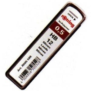 シャーペン 替え芯 / ロットリング ペンシル芯 ハイポリマー芯 0.5mm 12本入り 23S0312  (200)|penworld
