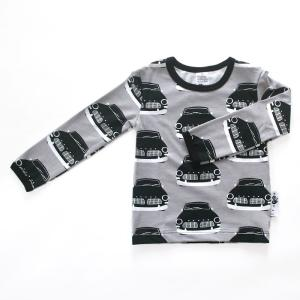 【クリックポスト対応】PaaPii DESIGN(パーピーデザイン)/長袖Tシャツ/VINTAGE CARS グレー/フィンランド/子供服//オーガニック|pepapape