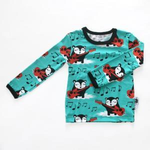 【クリックポスト対応】PaaPii DESIGN(パーピーデザイン)/長袖Tシャツ/MYYRY THE ROCKER ターコイズ/フィンランド/子供服//オーガニック|pepapape