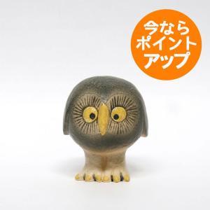 OWL(S)/グレーのふくろう/Lisa Larson(リサ・ラーソン)/置物/オブジェ|pepapape