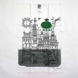Stig Lindberg(スティグ・リンドベリ)/キッチンタオル/びしょ濡れ靴のダニエル「シティ」グリーン pepapape