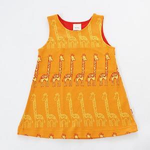 フィンランドブランド MURU ワンピース 「キリン オレンジ」「サイズ:86/92,98/104」/子供服/赤ちゃん/オーガニック|pepapape