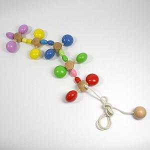 パタパタ/木のおもちゃ/プルトイ/引っ張る/動かす/知育/木製玩具|pepapape