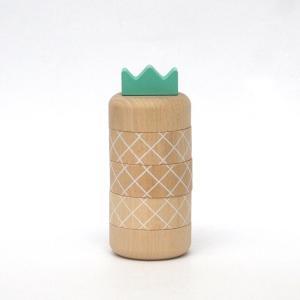 Aloha pineapple/ナチュラル/アロハ/パイナップル/kiko+/キコ/だるま落とし/ダルマ/おとし/木のおもちゃ/木製/ゲーム/知育玩具|pepapape
