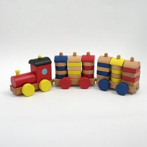 カラフル機関車/木のおもちゃ/積み木/積木/つみき/ツミキ/プルトイ/動かす/引っ張る/知育/木製玩具|pepapape