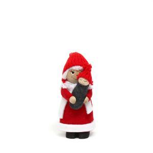 トムテ人形/木のフィギュア/トムテママとベビー/クリスマス/サンタクロース/北欧/スカンジナビアン・ヘムスロイド/スカンジナビスク/オブジェ/置物/木製|pepapape