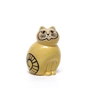 カラフル/ミア/イエロー/S/リサ・ラーソン/置物/オブジェ/Lisa Larson/COLORFUL/MIA/miniS/猫/ねこ/ネコ/黄色 pepapape